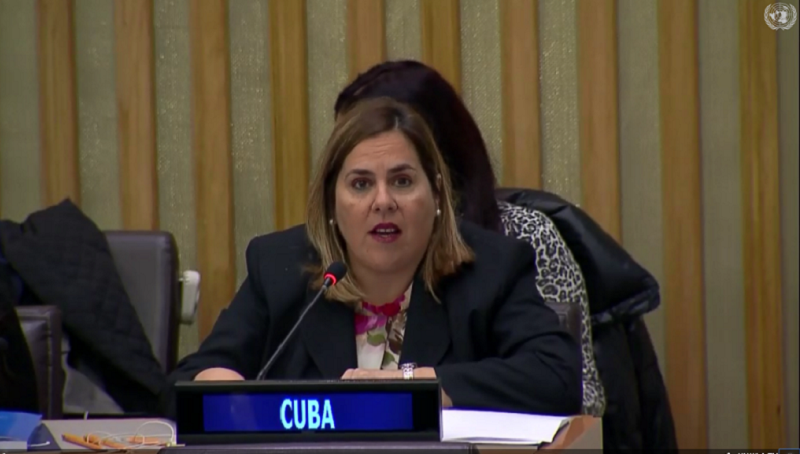 Cuba support for Palestine presidency in G77 plus China