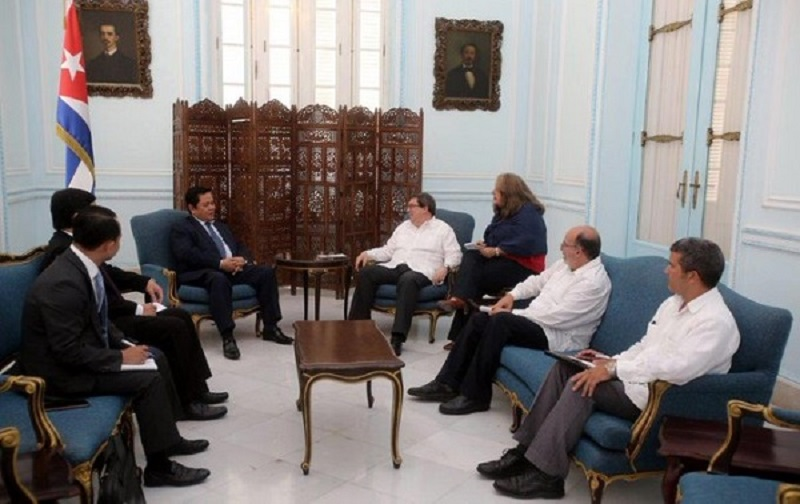 Cuban FM received the Secretary of State of the Ministry of Foreign Affairs of Cambodia
