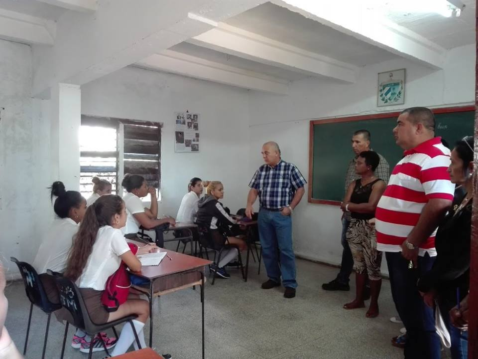 Cuban Vice President Visits Education and Health Centers in Trinidad