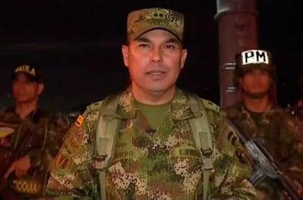 Anuncian en Colombia separación del cargo de alto funcionario castrense