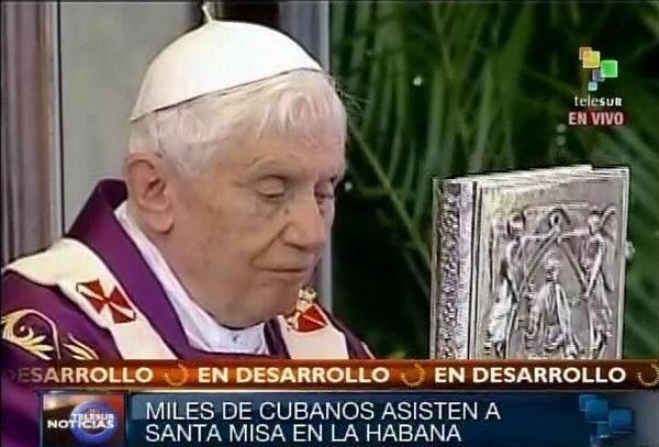 Reconoce el Papa Benedicto XVI la obra del maestro Félix Varela