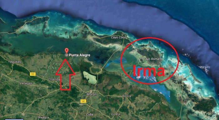 El tiempo en Cuba para el 9 de septiembre de 2017