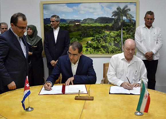 Cuba and Iran sign Collaboration Agreements