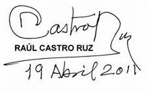 Mensaje de Raúl a los cubanos