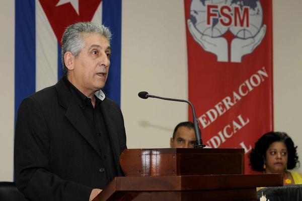 Condena bloqueo a Cuba dirigente de Federaci�n Sindical Mundial