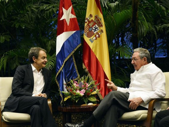 Raul Meets in Havana with Rodriguez Zapatero