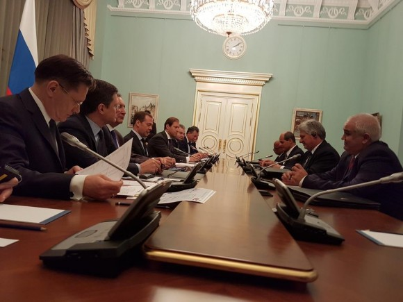 Russian Prime Minister Meets Cuban First Vice President in Moscow