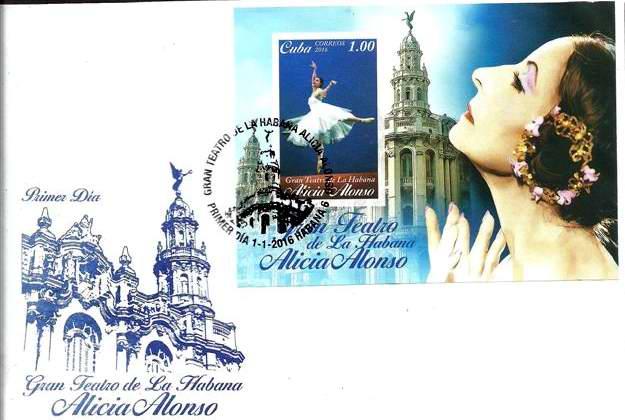 Una hoja filat�lica para el Gran Teatro de La Habana Alicia Alonso