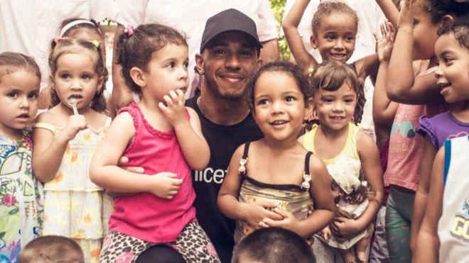 Formula One Lewis Hamilton visits Cuba as UNICEF ambassador