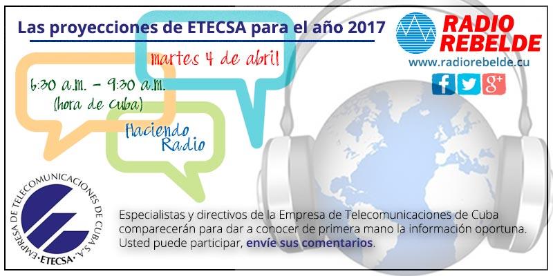 ETECSA por la calidad del servicio que ofrece a sus clientes