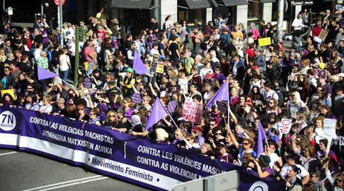 Marchan en Espa�a contra la violencia machista