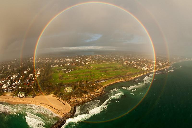 El arcoíris es un regalo de la naturaleza