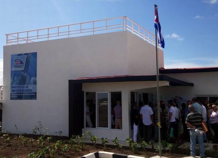 Cuba opens modern weather station
