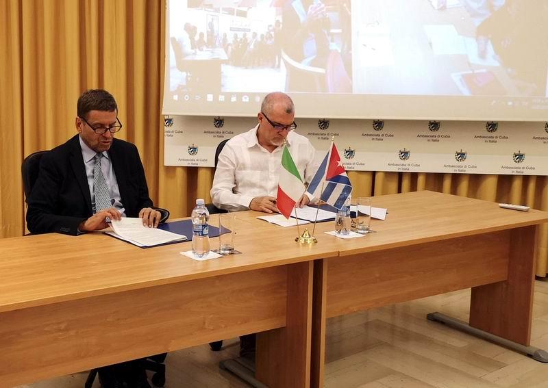 Cuba e Italia suscriben acuerdo de cooperación en diferentes sectores
