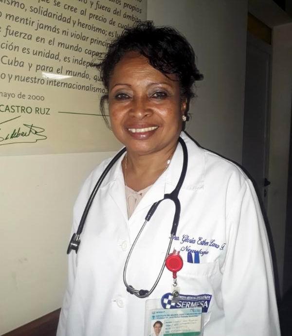 Dra. especialista en Neurología, Gloria Estrella Lara