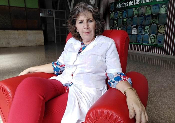 Especialista de Pediatría y Directora de la institución sanitaria Nidia Ana Leyva Manzano