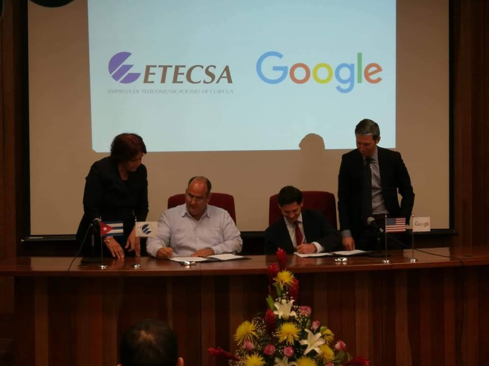 ETECSA and Google sign new Memorandum of Understanding