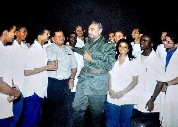 Fidel en la ELAM