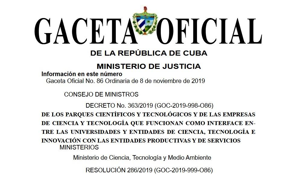 Publican decreto sobre creación de parques científicos tecnológicos (+ PDF)