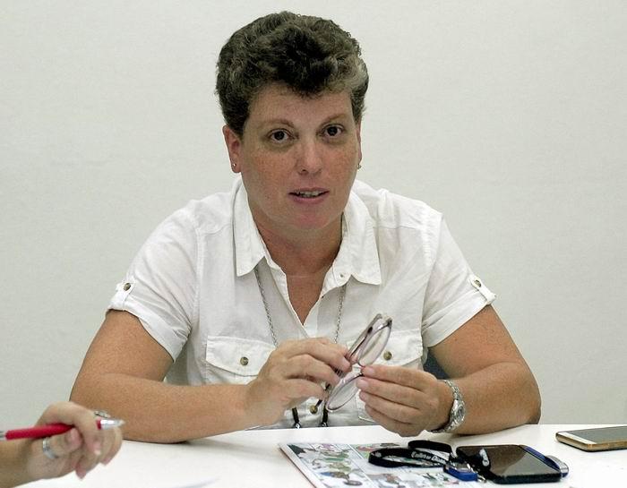 Directora General de la Oficina Cubana de la Propiedad Industrial, la Master en Ciencias María de los Ángeles Sánchez Torres.