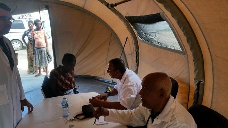 Médicos cubanos atienden a damnificados en Mozambique