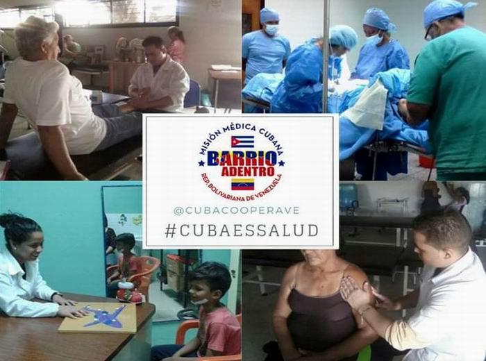 Cuba y Venezuela, solidaridad con batas blancas