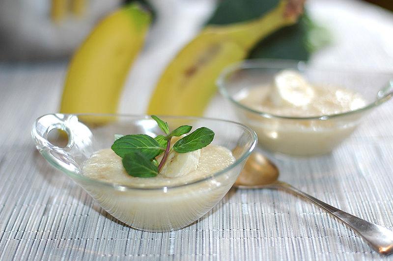 Delicioso plátano a la menta
