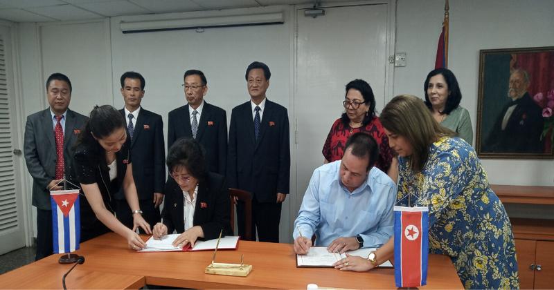 Firman Cuba y Corea memorándum de entendimiento en materia de salud