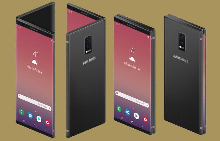 Samsung estrena teléfono plegable