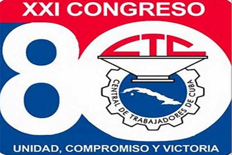 Abanderada delegación tunera a congreso obrero