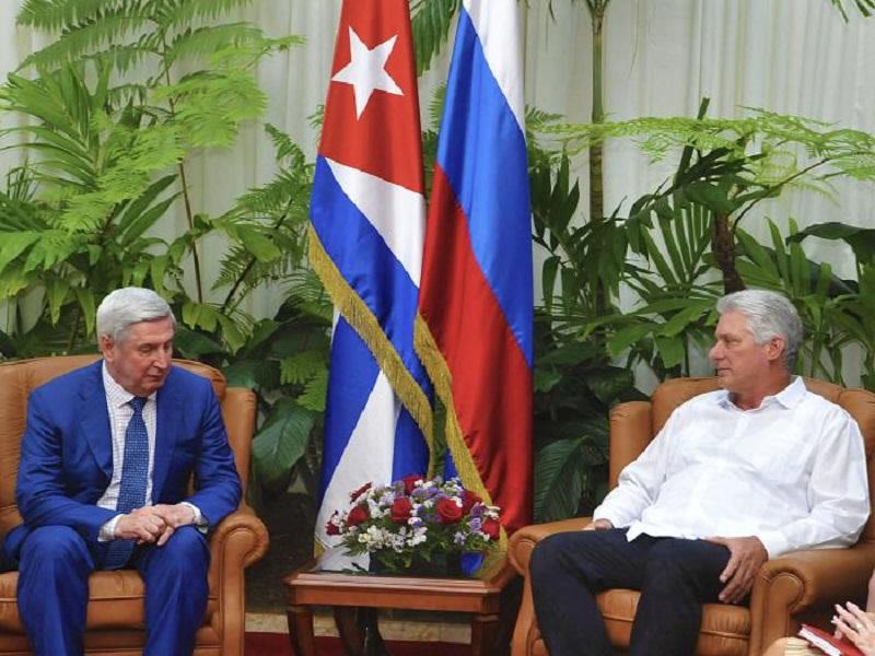 Diaz-Canel received VP of Russian Duma