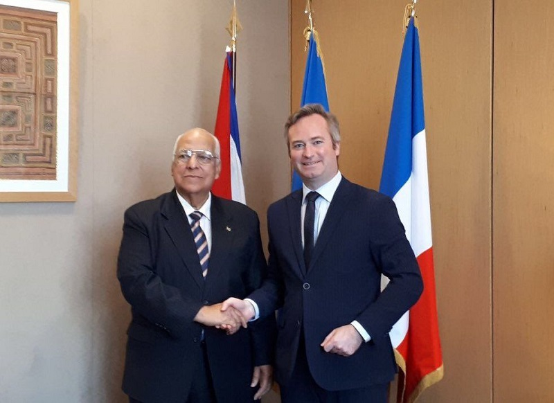 Cuban Vice President Ricardo Cabrisas Meets with the French Secretary of State