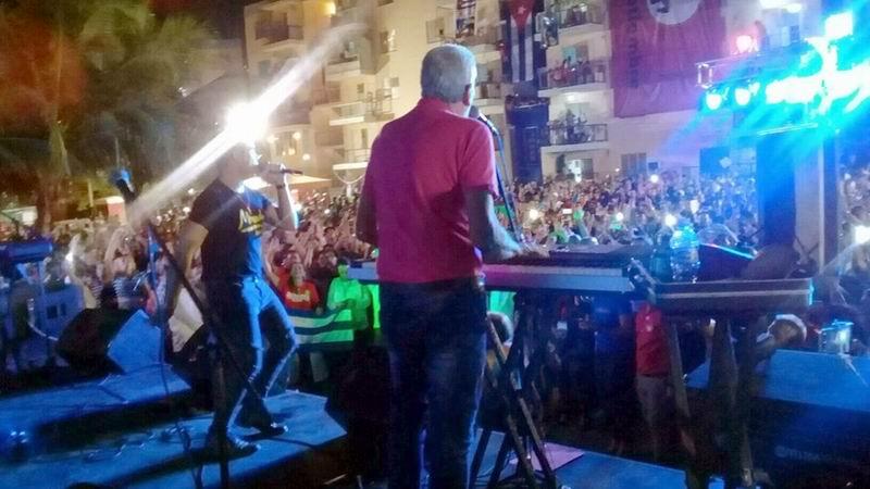 El concierto del grupo Moncada cerró la primera jornada del Encuentro Antimperialista de Solidaridad por la Democracia y contra el Neoliberalismo