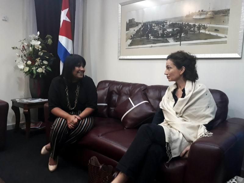 Inicia actividades en Cuba Secretaria General de la Unesco