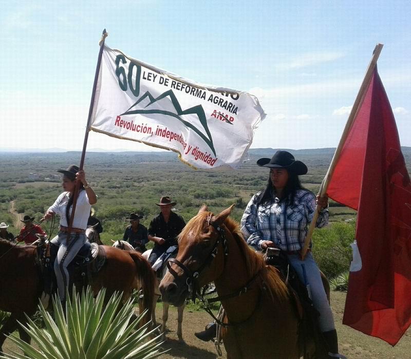 Finaliza recorrido de la bandera 60 Aniversario de la Reforma Agraria