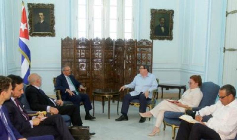 Recibió Canciller cubano a alto funcionario español