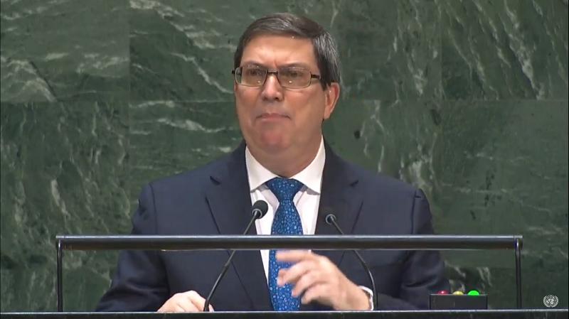 Bruno Rodríguez Parrilla en la Asamblea General de la ONU