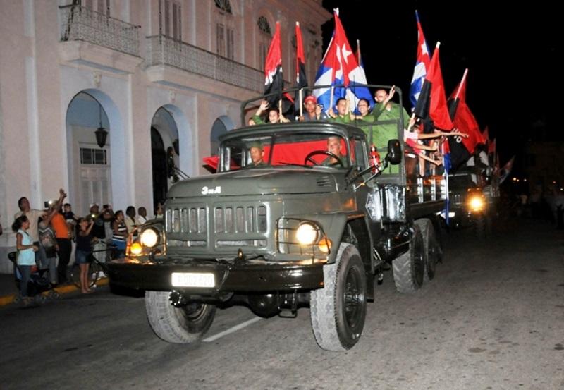 Conmemoró Cienfuegos entrada de Fidel con la Caravana de la Libertad