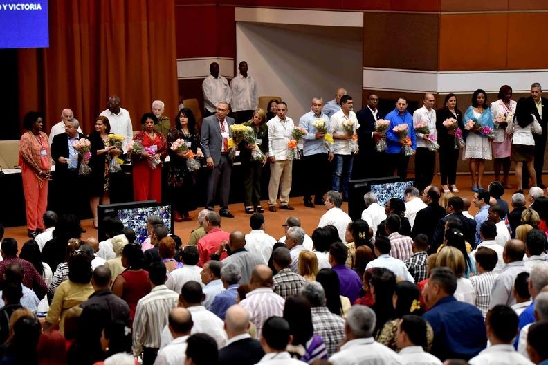 Presentación del Consejo Nacional de la Central de Trabajadores de Cuba (CTC), y su secretariado Ejecutivo, durante la sesión de clausura del XXI Congreso de la organización sindical obrera, en el Palacio de Convenciones, en La Habana, el 24 de abril de 2019. Foto: Omara García