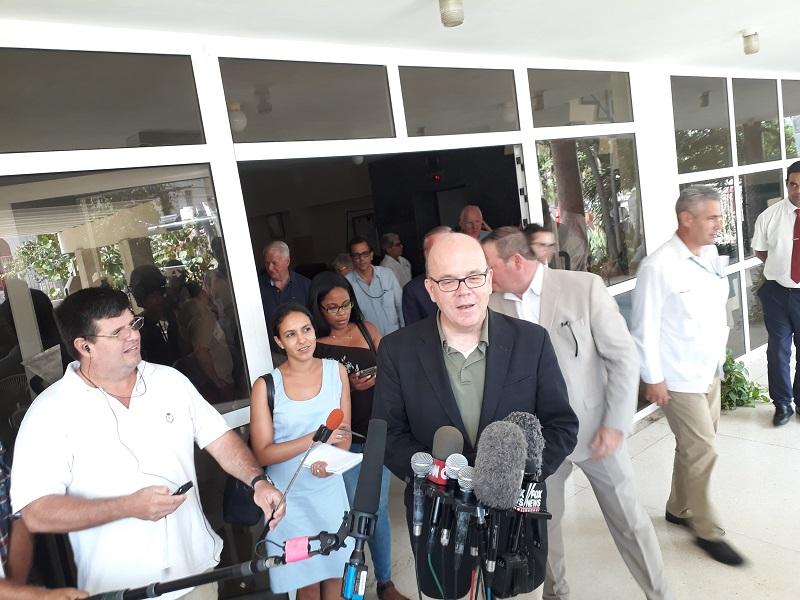 James McGovern en La Habana: queremos que se levante el bloqueo