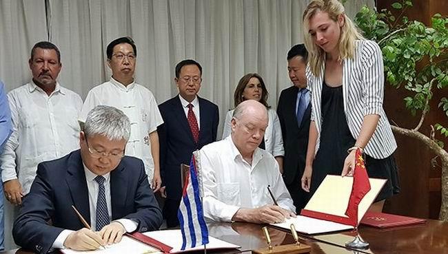 Firman Cuba y China nuevos instrumentos jurídicos para la cooperación económica