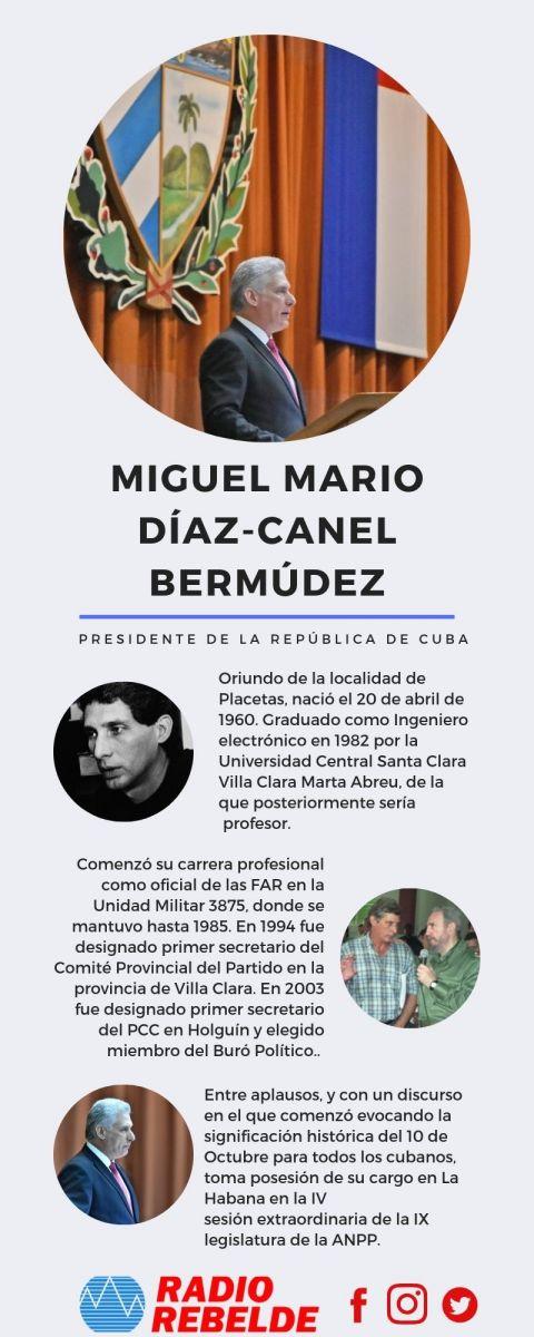 Electo Díaz-Canel como Presidente de la República de Cuba
