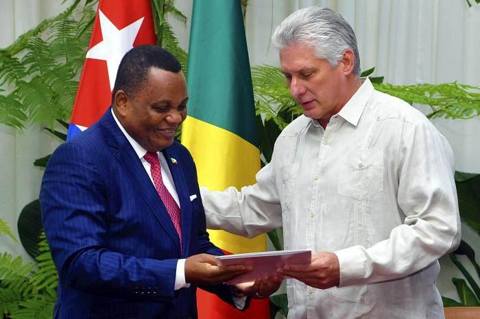 Recibió Díaz-Canel al Canciller de la República del Congo