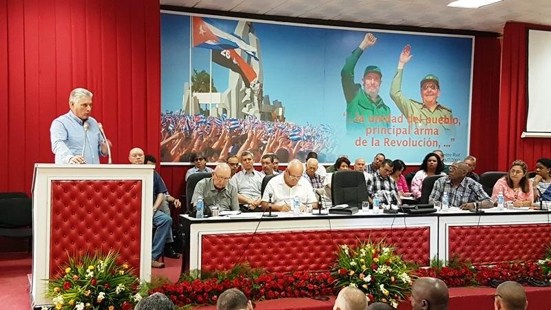 En audio: Díaz-Canel: podrán faltar los recursos, pero nunca la moral