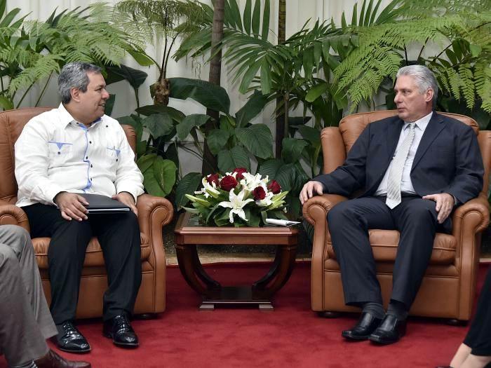 Recibió Díaz-Canel al Presidente Ejecutivo del Banco Centroamericano de Integración Económica. Foto: Estudios Revolución