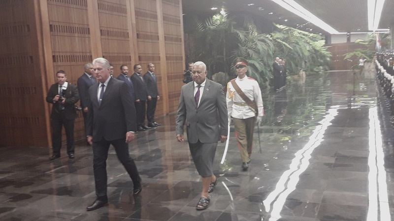 Recibe Díaz-Canel a Primer Ministro de Fiji