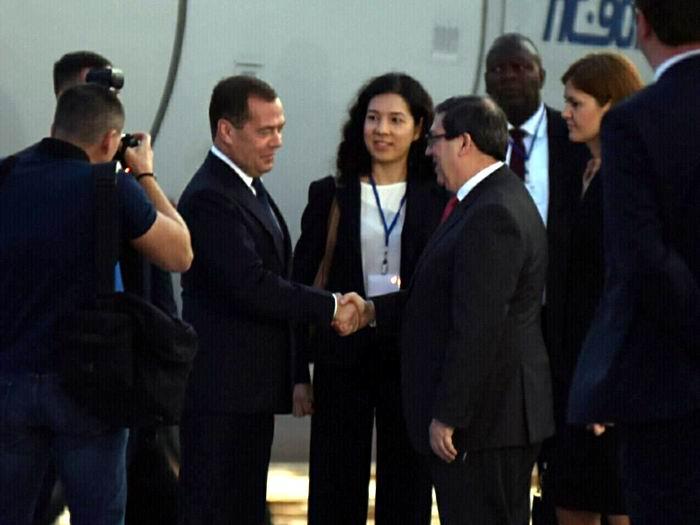 En Cuba, Presidente del Gobierno de Rusia en visita oficial