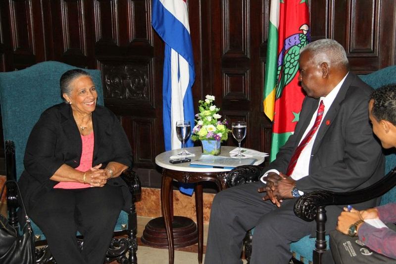 Sostuvo Esteban Lazo reunión con presidenta del parlamento de Dominica