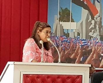 Presidenta de la Asamblea provincial del Poder Popular, diputada Isabel González Cárdenas