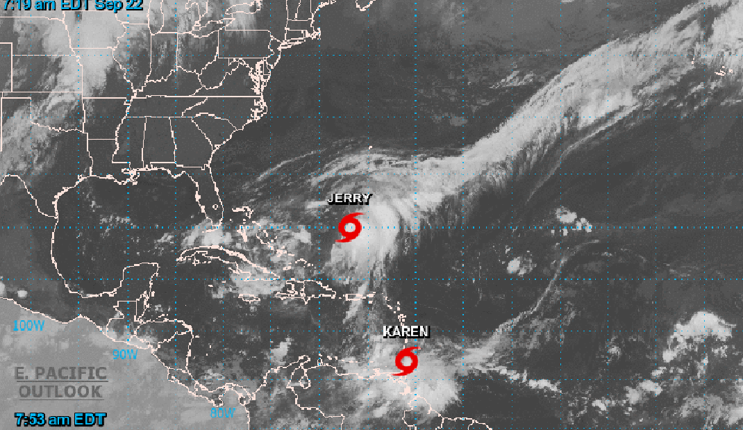 Se forma la tormenta tropical Karen